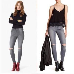 Joe's jeans skinny grey destructed stretch Lorelei